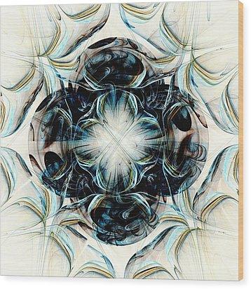 Black Pearls Wood Print by Anastasiya Malakhova