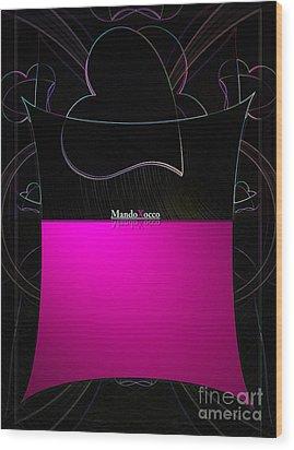 Black Pink Luv Wood Print