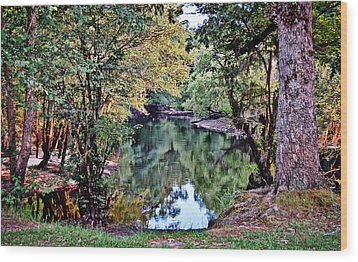 Wood Print featuring the photograph Black River Reflections by Linda Brown