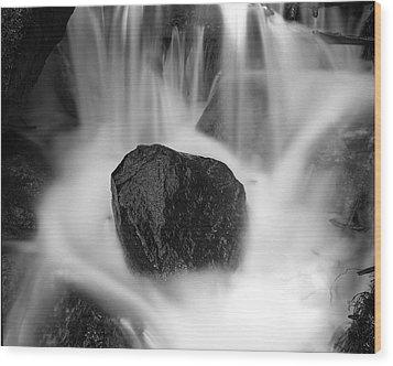 Black Rock And Water Yosemite Wood Print by Joe  Palermo