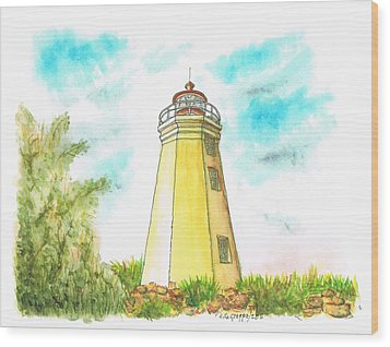 Black Rock Harbor Lighthouse - Connecticut Wood Print by Carlos G Groppa