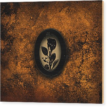 Wood Print featuring the painting Black Rose by Persephone Artworks