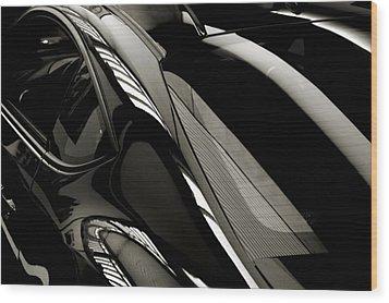 Black Satin Wood Print