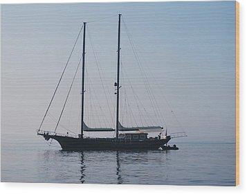 Black Ship 1 Wood Print