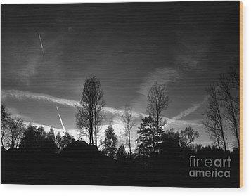 Black Sky Wood Print by Dariusz Gudowicz