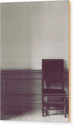 Black Stud Wood Print by Margie Hurwich