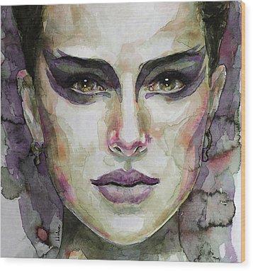 Black Swan Wood Print by Laur Iduc