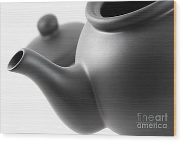Black Teapot Wood Print