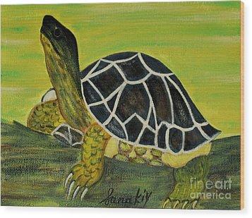 Black Turtle. Inspirations Collection. Wood Print by Oksana Semenchenko
