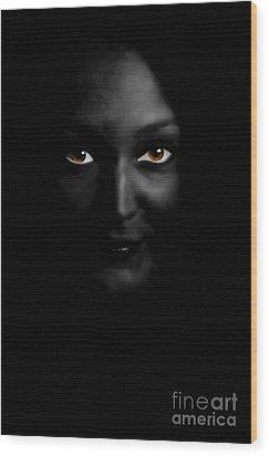 Black Woman Wood Print by Angelika Bentin