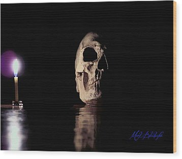 Wood Print featuring the photograph Blackbeard's Skull by Mark Blauhoefer