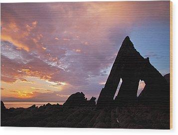 Blackchurch Rock N Devon Wood Print by Pete Hemington
