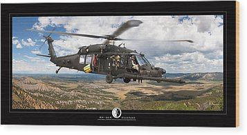 Blackhawk Helicopter Wood Print by Larry McManus