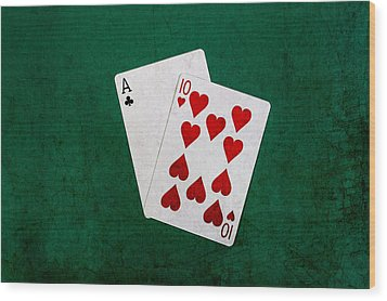 Blackjack Twenty One 1 Wood Print