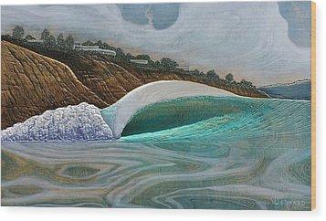 Blacks Beach Wood Print by Nathan Ledyard