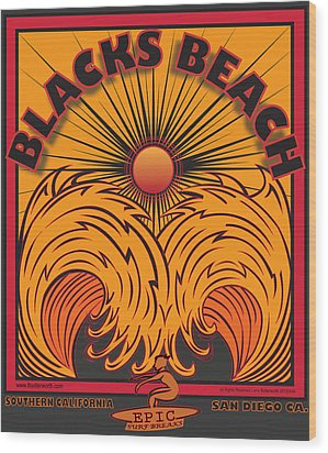 Blacks Beach San Diego California Wood Print by Larry Butterworth