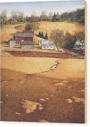 Wood Print featuring the painting Blackshear Hollow by Tom Wooldridge