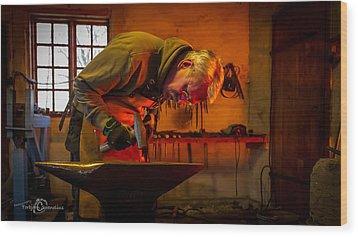 Blacksmith In Torresta Wood Print