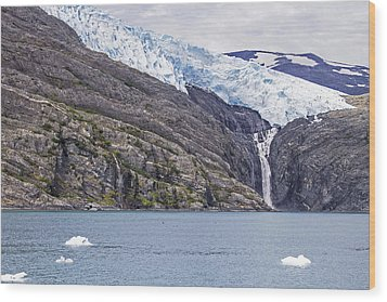 Blackstone Glacier Wood Print by Saya Studios