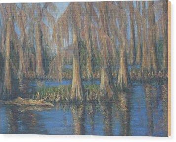 Blackwater Blue At Magnolia Gardens Wood Print