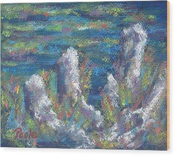 Blackwater Cypress Knees Wood Print