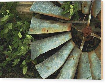 Wood Print featuring the photograph Blades by Chuck De La Rosa