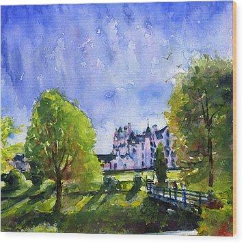 Blair Castle Bridge Scotland Wood Print by John D Benson