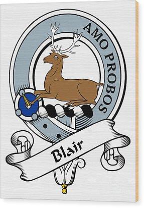Blair Clan Badge Wood Print by Heraldry