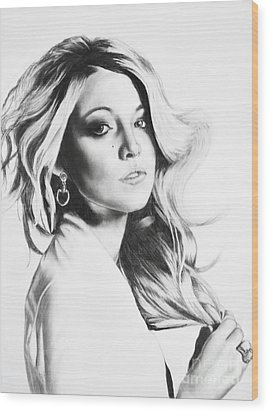 Blake Lively Wood Print by Michael Durocher