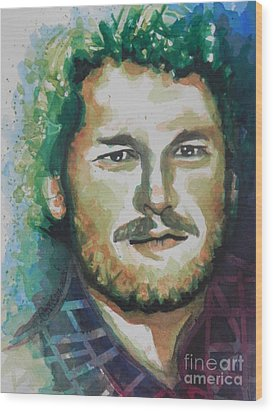 Blake Shelton  Country Singer Wood Print by Chrisann Ellis