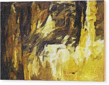 Blanchard Springs Caverns-arkansas Series 02 Wood Print by David Allen Pierson