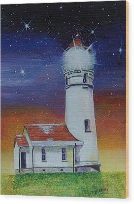 Blanco Lighthouse Wood Print by Thomas J Herring