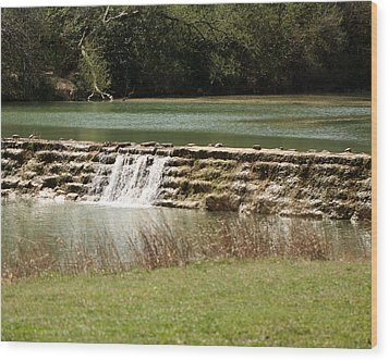 Blanco River Weir Wood Print