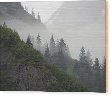 Blanket Of Fog Wood Print by Jennifer Wheatley Wolf