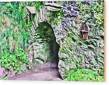 Blarney Cave Wood Print