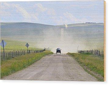 Blasingame Road   Wood Print by Clarice  Lakota