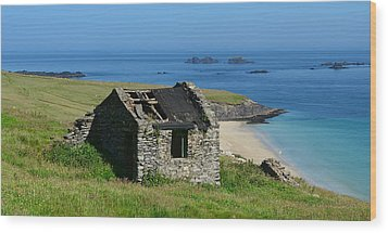 Blasket Island Wood Print by Barbara Walsh