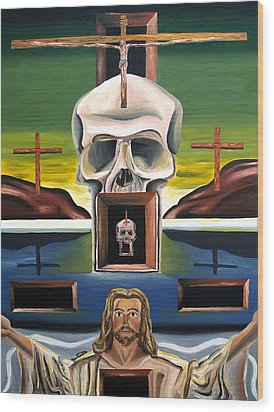 Wood Print featuring the painting Blasphemixition by Ryan Demaree