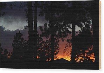 Blazing Black Hills Sunset Wood Print by Dakota Light Photography By Dakota