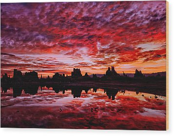 Blazing Dawn Wood Print