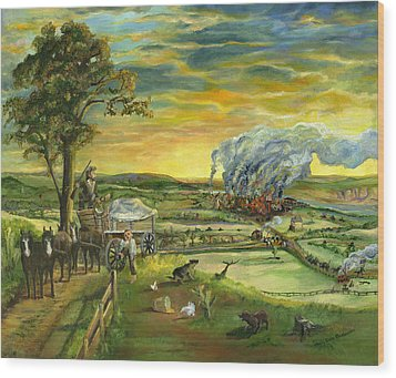 Bleeding Kansas - A Life And Nation Changing Event Wood Print by Mary Ellen Anderson