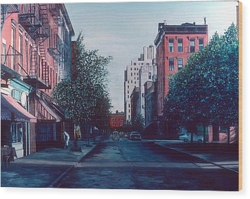 Bleeker Street Wood Print by Anthony Butera