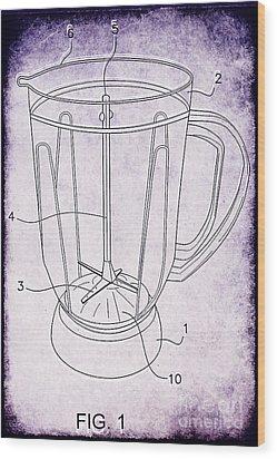 Blender Patent Wood Print by Edward Fielding