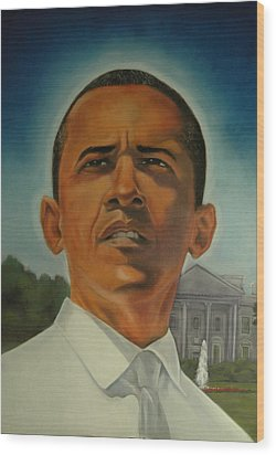 Bless Mr.obama Wood Print by Joyce Hayes