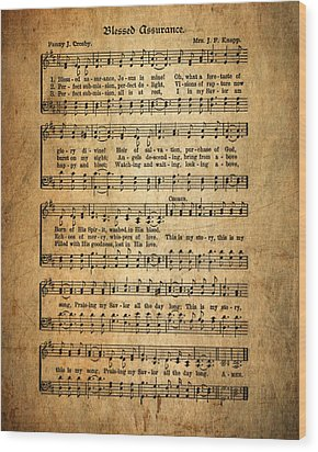 Blessed Assurance Wood Print