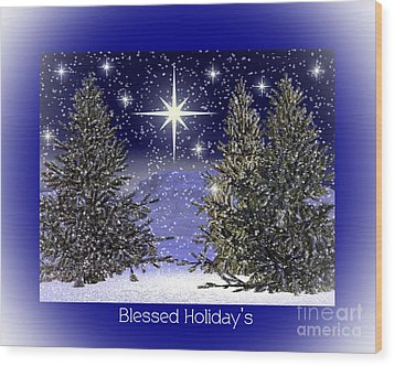 Blessed Holidays Wood Print