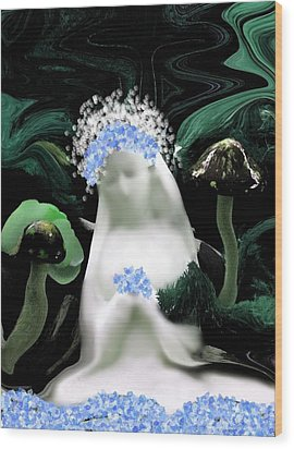 Blessed Mother Mary Wood Print by Sherri's Of Palm Springs