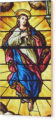 Wood Print featuring the photograph Blessed Mother's Ascention by Debby Pueschel