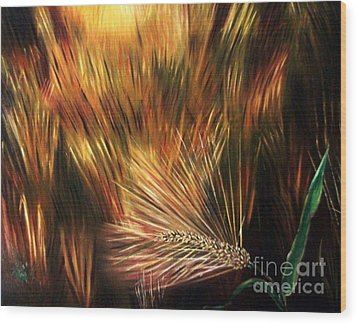 Blessed Seeds Collection - Fields Of Gold Wood Print