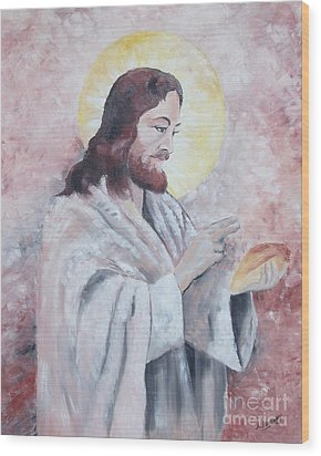 Blessing Of The Bread Wood Print by Jim Janeway